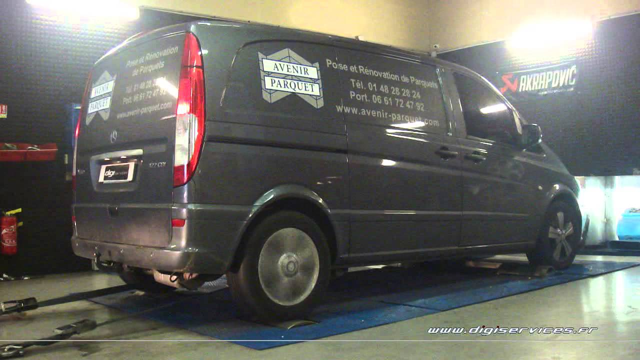 mercedes vito 122 cdi 224cv reprogrammation moteur 301cv digiservices paris 77 dyno youtube. Black Bedroom Furniture Sets. Home Design Ideas
