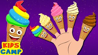 Ice Cream Finger Family Song + More Nursery Rhymes And Kids Songs by KidsCamp