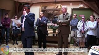 Matthieu Villecourt, directeur de l'hôpital d'Avallon, a présenté ses vœux au personnel.