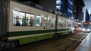 広島電鉄700形711号&3900形3902号&5100形5101号 紙屋町西到着