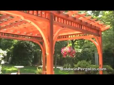 Cedar Pergola Designed With Beautiful Arched Braces Youtube