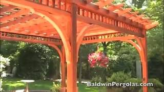 Cedar Pergola Designed With Beautiful Arched Braces