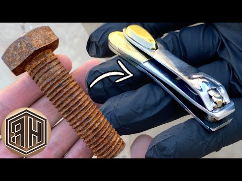 Turning A Rusted Bolt Into A Shiny NAIL CLIPPER