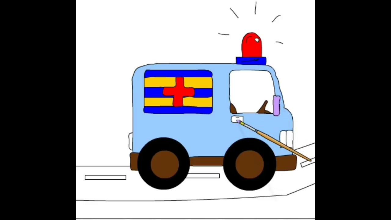 Ambulans Boyama çiz Ve Boya Youtube