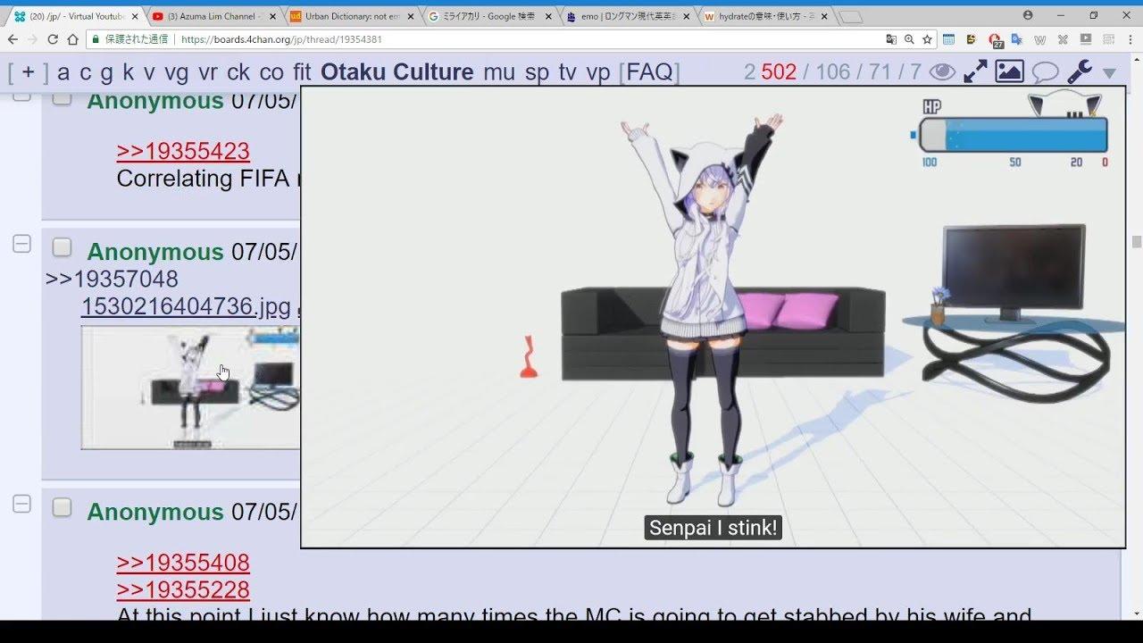 study English through 4chan vocabulary in Vtuber thread