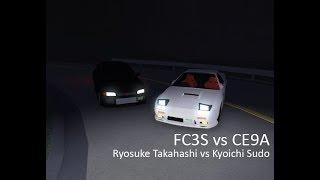 FC vs Evo III (Ryosuke Takahashi vs Kyoichi Sudo)   Roblox Initial D Remake #11