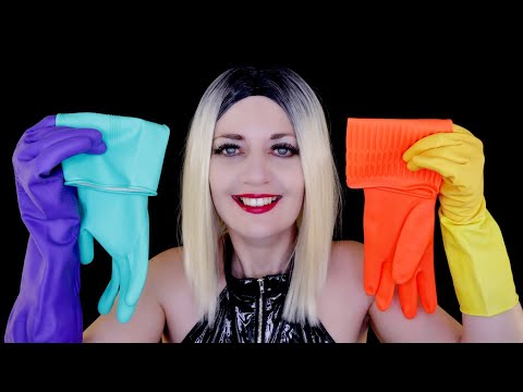 ASMR Wearing Rubber Gloves/Marigolds   6 Different Pairs   PVC Top   INTENSE Ear