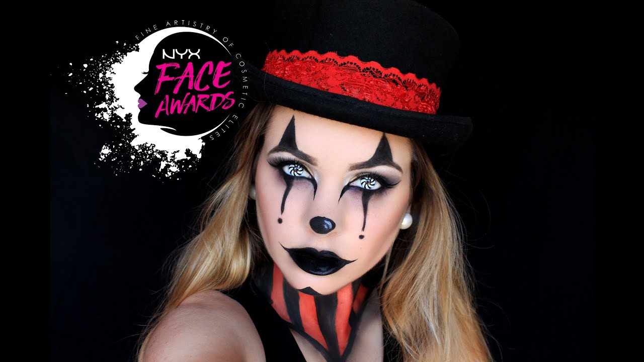 nyx face awards portugal 2016 entry circus clown youtube