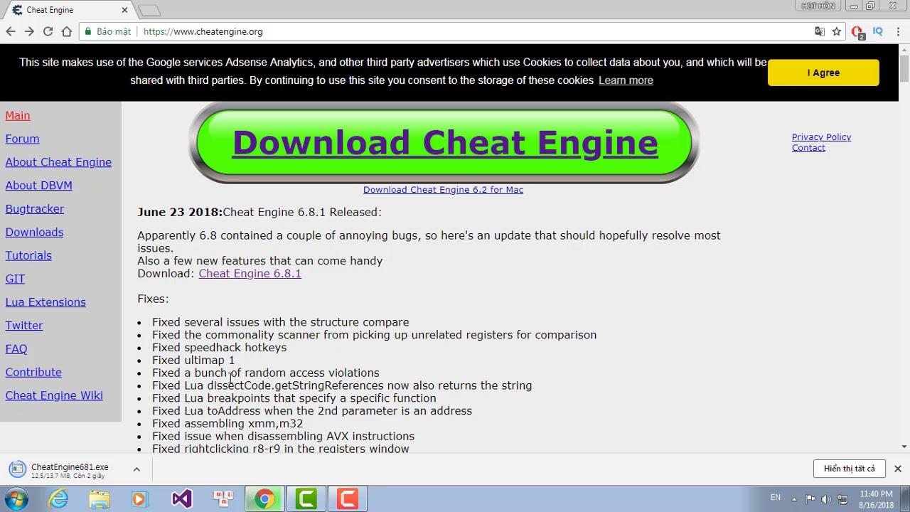 Cheat engine tutorial download.