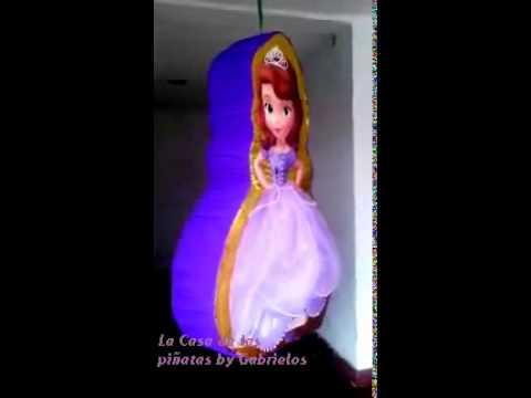 ff734b934 La Casa de las piñatas by Gabrielo s - Piñata Princesita Sofia - YouTube