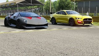 Lamborghini Sesto Elemento vṡ Ford Mustang Shelby GT500 '20 at Monza Full Course