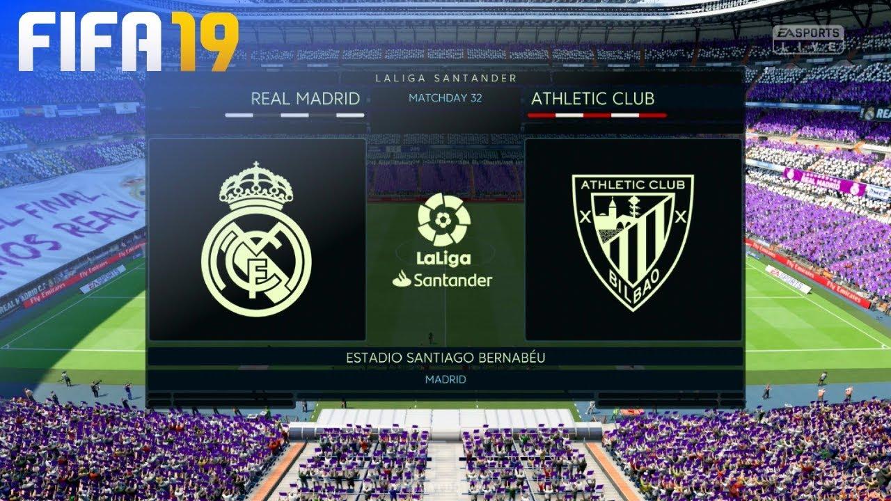 Fifa 19 Real Madrid Vs Athletic De Bilbao Estadio Santiago