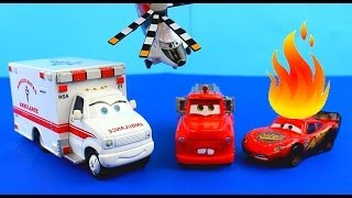 Download Disney Pixar Cars Rescue squad mater Saves Lightning McQueen on fire after Hellicopter accident. Mp3 and Videos