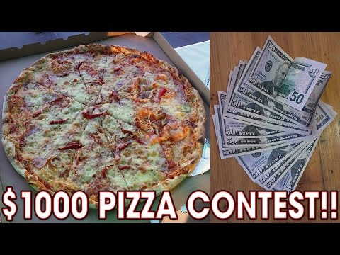 $1000 Pizza Eating Contest in CZECH REPUBLIC!!