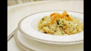 Рис по Тайски с курицей, яйцом и креветками - видео рецепт