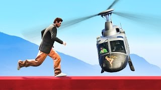 TIGHTROPE RUNNER vs. HELICOPTER! (GTA 5 Funny Moments)
