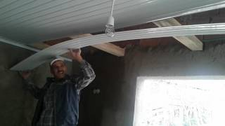Plastik tavan döşemenin yapılışı