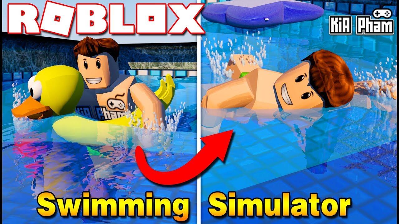 roblox kia t p b i v o i tuy n olympic swimming simulator kia ph m youtube. Black Bedroom Furniture Sets. Home Design Ideas