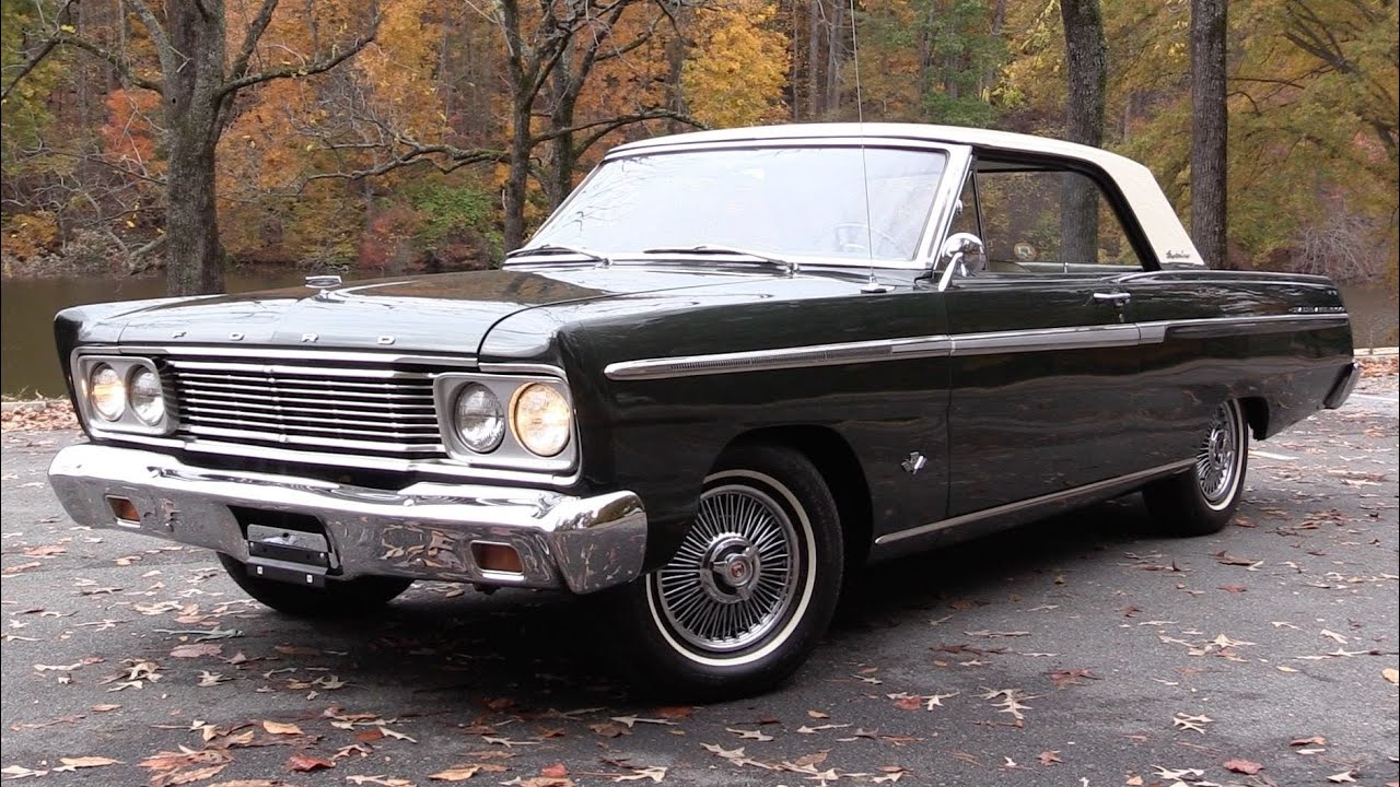1965 ford fairlane 500 sports coupe 289 v8 start up road test and in depth review