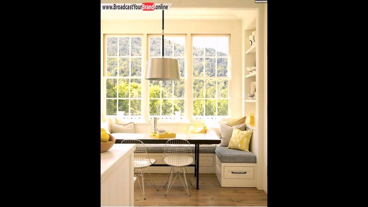 Sitzecke stauraum küche gelbe kissen   youtube