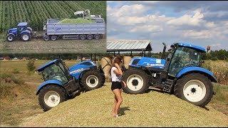 Kukurydza 2018 z Iloną | Claas Jaguar, New Holland, John Deere, Deutz-Fahr | Dziewczyny na traktory