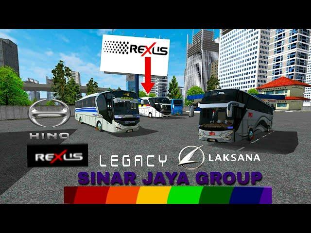 Livery bussid°|•SINAR JAYA GROUP•|°SHD & HD