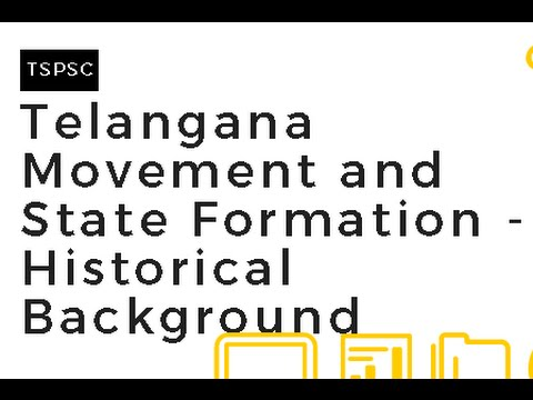 Telangana Movement and State Formation || Historical Background || 1724 to 1948