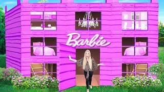 I Made a GIANT Barbie Cardboard Dream House! - Challenge