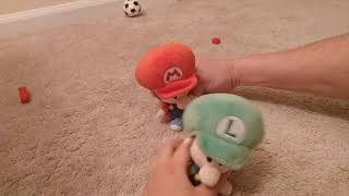Baby Luigi & Mario rematch soccer game!!