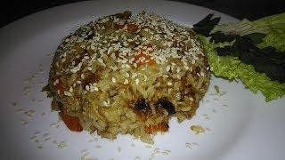 Это КРУЧЕ чем плов! Жареный пикантный рис с имбирём,овощами и свининой!