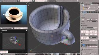 Видеоучебник по Blender 2.5. (2 - Моделирование чашки, ч. 2)