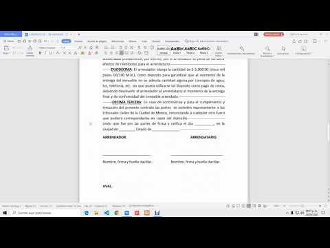 REDACTA (3) TU CONTRATO DE ARRENDAMIENTO. Parte 3.