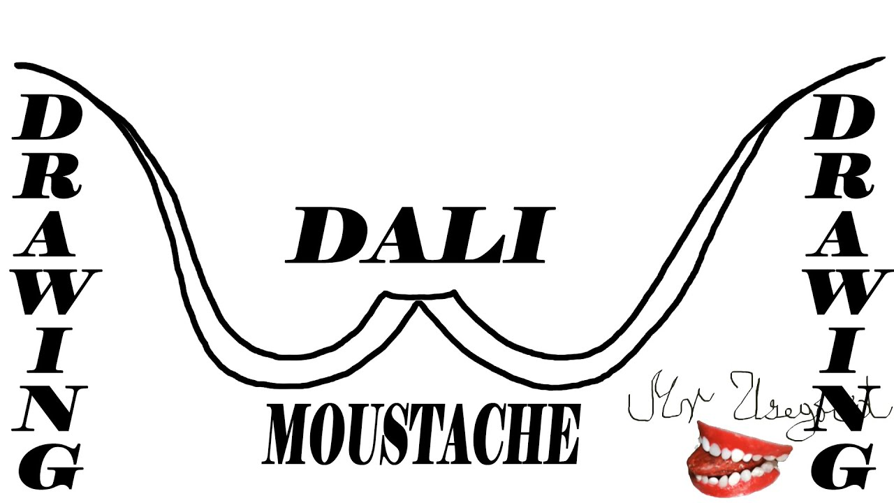 How to Draw SALVADOR DALI Cute Cartoon Mustache/Moustache Step by Step Easy  - for kids
