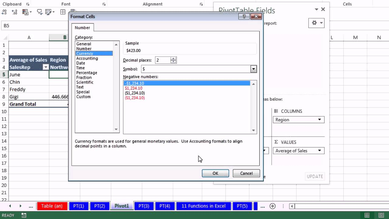 Office 2013 Class #42: Excel Basics 24: Pivot Tables For Data Analysis (21  Examples)