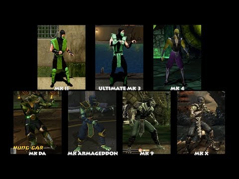 Mortal Kombat REPTILE Graphic Evolution 1992-2015   ARCADE PSX PS2 XBOX PC   PC ULTRA