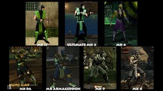 Mortal Kombat REPTILE Graphic Evolution 1992-2015 | ARCADE PSX PS2 XBOX PC | PC ULTRA