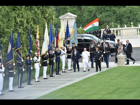 PM Modi lays wreath at Tomb of Unknown Soldier in Washington D.C, USA