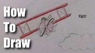 How To Draw A Biplane (EASY)