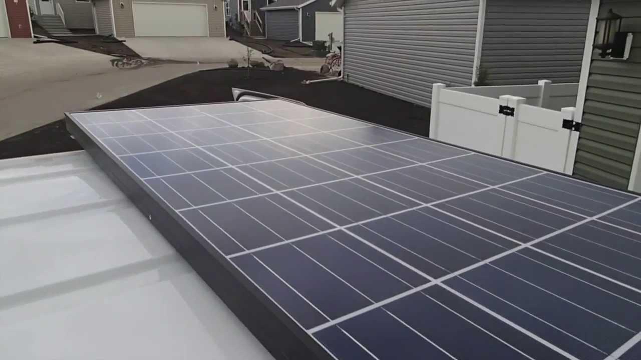 Solar Solar Panel Solar System Installation In A Van