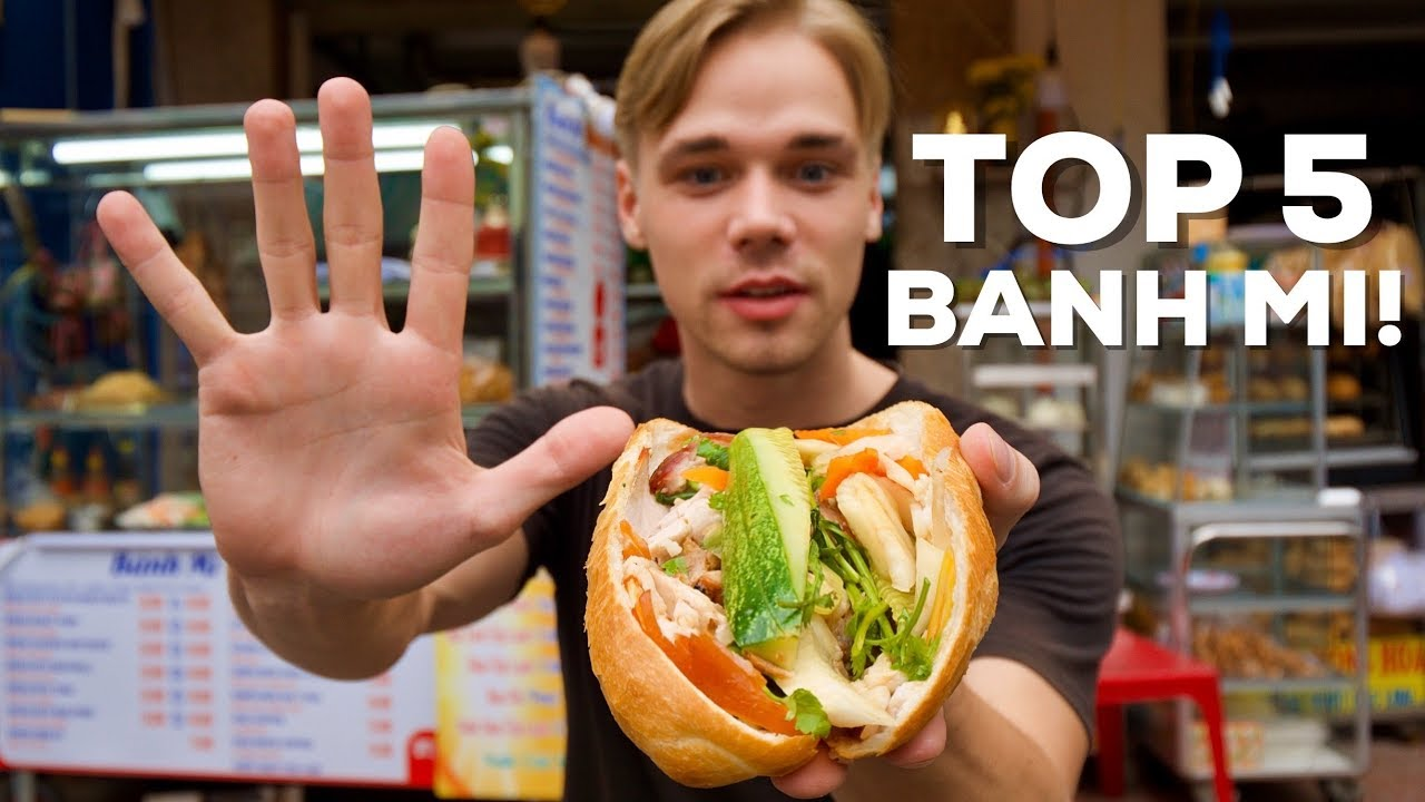 TOP 5 Most DELICIOUS Banh Mi for 1$! – Street Food Guide in Saigon!