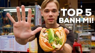 TOP 5 Most DELICIOUS Banh Mi for 1$! - Street Food Guide in Saigon!