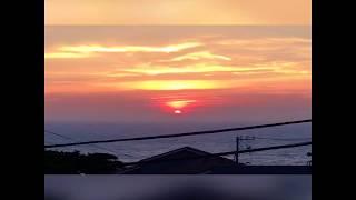 とても綺麗に夕陽が沈む瞬間です!!