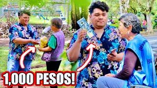 GIVING 1,000 PESOS TO STRANGERS (PRANK NANAMAN?!) | 12 Day of Christmas Ep.1