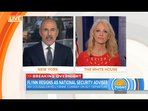 Matt Lauer​ grills Kellyanne Conway​ over the timing of Michael Flynn's resignation