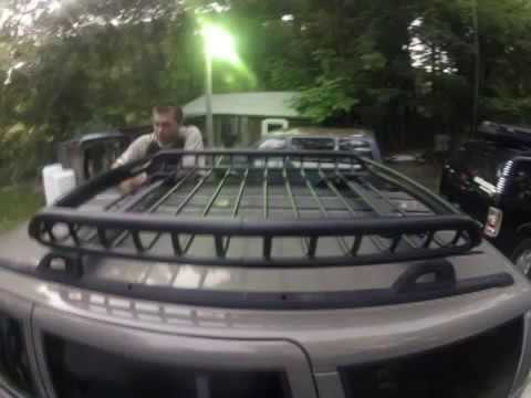 Overland Rola Roof Cargo Basket Youtube