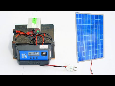 How to make 200W Solar Inverter System (Free Electricity )
