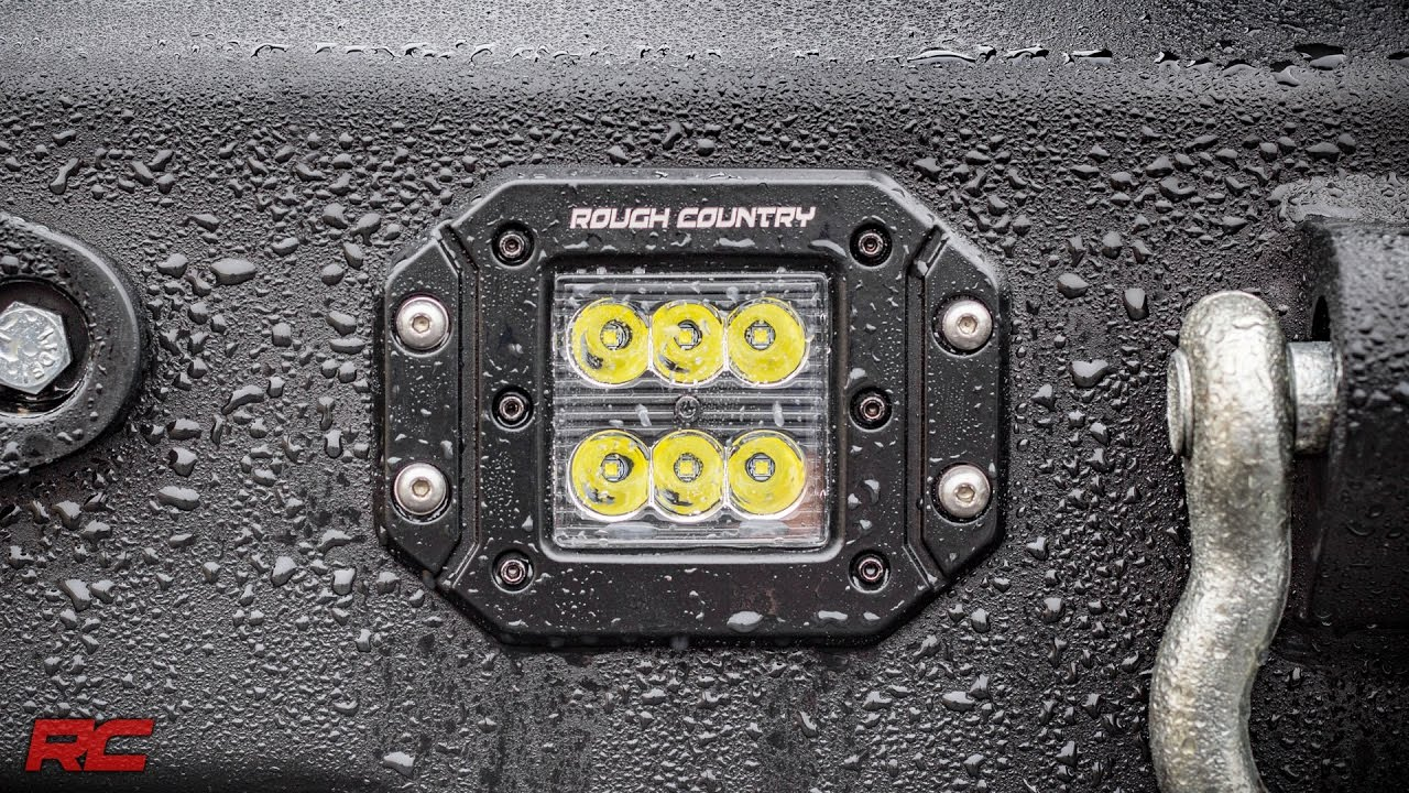 2 Inch Square Flush Mount Black Series Cree Led Cube Lights By Rough 3x3 Fog Light Installledrockerswitchdiagramjpg Country