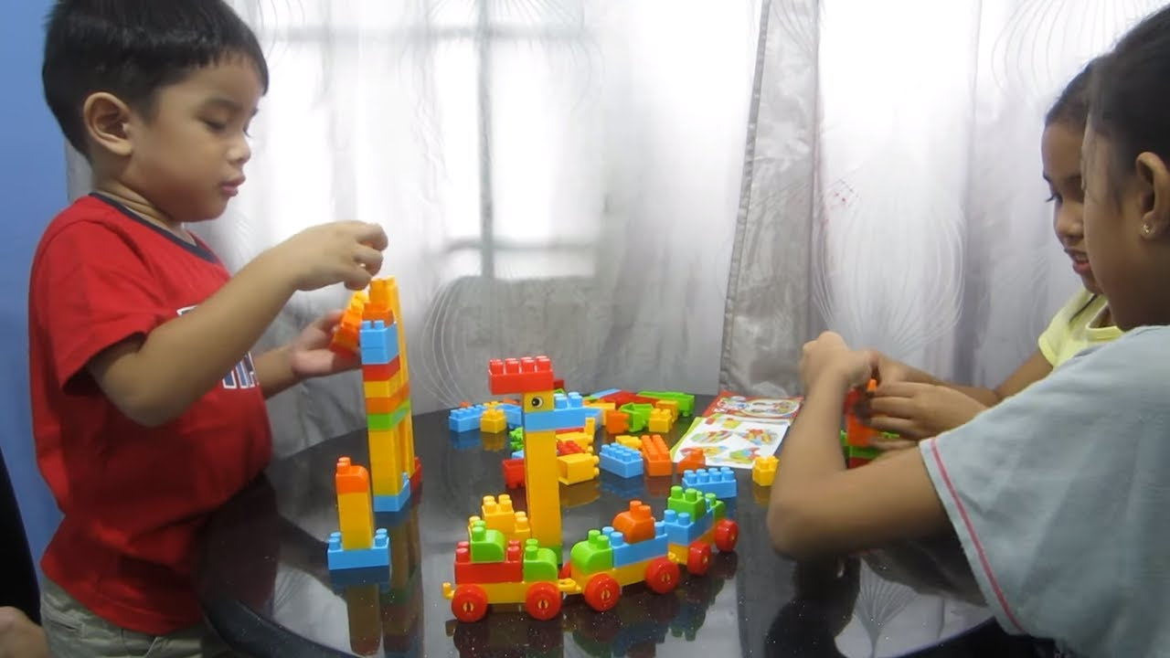 blocks play set for children block games video for kids toys building blocks learning videos. Black Bedroom Furniture Sets. Home Design Ideas