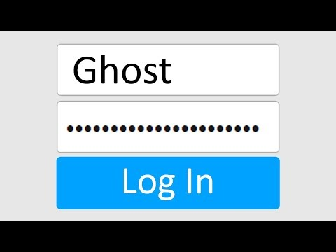 Logging Onto The Ghost's Roblox Account.. *Bad Idea*