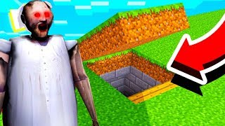 We FOUND Granny's Secret Base in Minecraft! *SCARY*